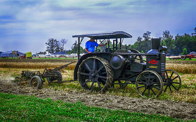 Keck Photograph - Oil Pull Tractor by F Leblanc