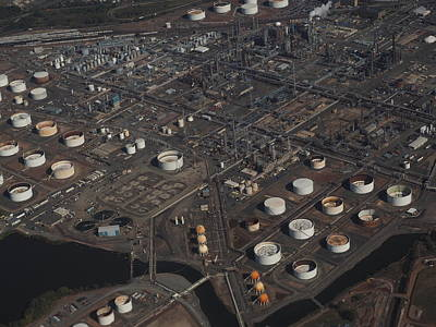 Photograph - Oil Refinery by Daniel Corry