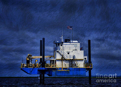 Photograph - Oil Rig by Dave Bosse