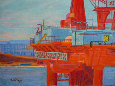 Oil Rig In Halifax Harbour Art Print by Rae  Smith  PSC