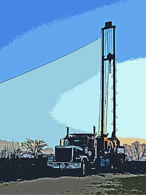 Digital Art - Oil Rig On Wheels by James Granberry