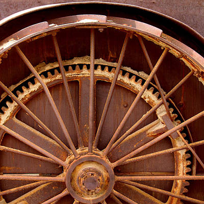 Oil Rig Wheel Art Print by Art Block Collections