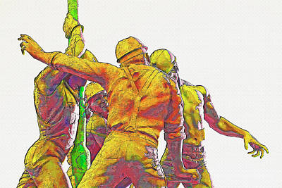 Oil Rig Workers 5 Art Print by Steve Ohlsen