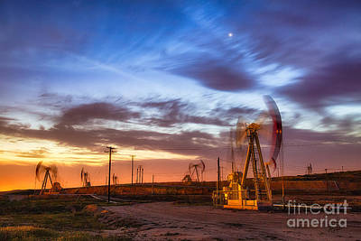 Oil Rigs 3 Art Print
