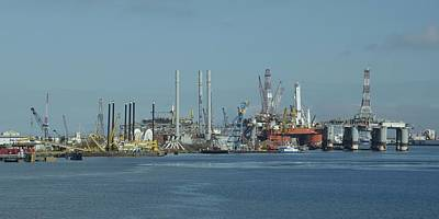 Photograph - Oil Rigs At Galveston by Bradford Martin