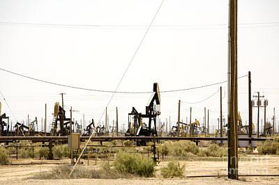 Oil Rigs, Lebec, Mojave Desert, California Art Print by Paul Edmondson