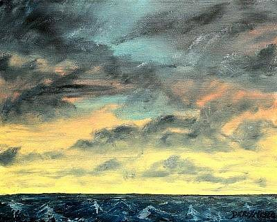 Oil Painting - Oil Skyscape Painting by Derek Mccrea