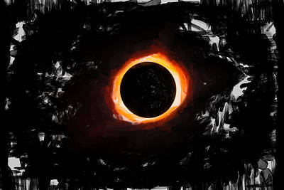 Painting - Oil Solar Eclipse by Dan Sproul
