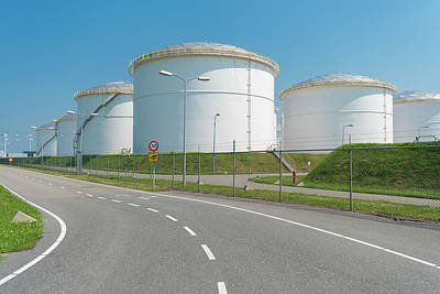 Photograph - Oil Storage In The Port Of Amsterdam by Hans Engbers