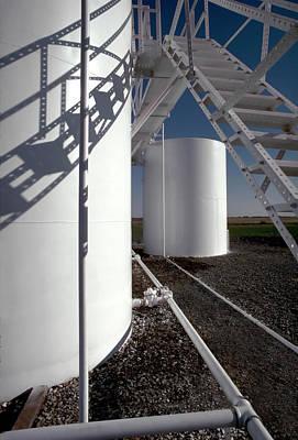 Jack Drill Digital Art - Oil Storage Tank by Dennis Thompson