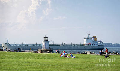 Photograph - Oil Tanker And Bug Light Park, South Portland, Maine #40203 by John Bald