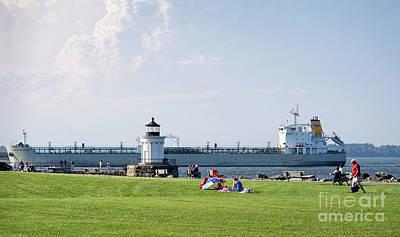 Photograph - Oil Tanker And Bug Light Park, South Portland, Maine #40203 by John Bald
