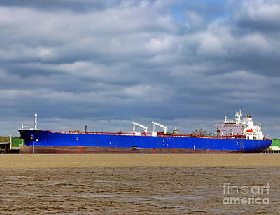 Photograph - Oil Tanker Ship At Dock by Olivier Le Queinec