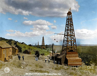 Photograph - Oil Well by Granger