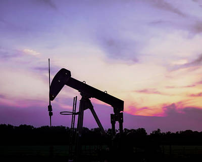 Photograph - Oil Well Sunset - Photography by Ann Powell