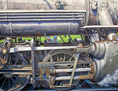 Oiling The 28 Art Print by Gary Symington