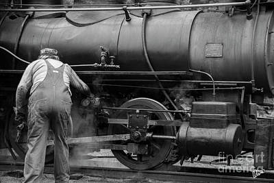 Photograph - Oiling The Train by Alana Ranney