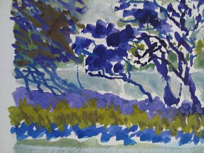 Painting - Oilsketch Trees by Chuck Snyder