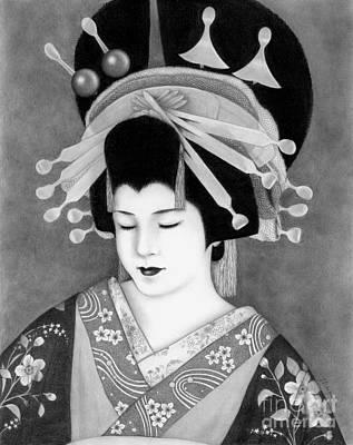 Drawing - Oiran by Mayumi Ogihara