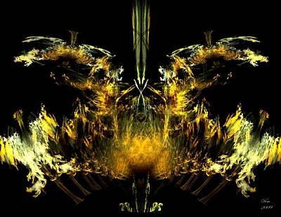 Oiseau De Feu Art Print by Dom Creations