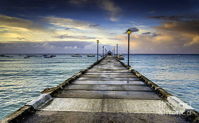 Photograph - Oistins Jetty by Hugh Walker