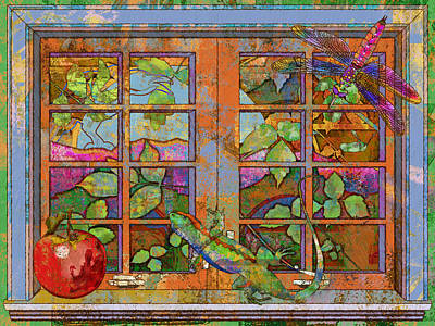 Ojai Wall Art - Digital Art - Ojai Window by Mary Ogle