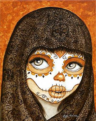 Art Print featuring the painting Ojos Brillantes by Al  Molina
