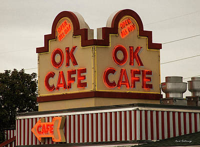 Photograph - Ok Cafe Neon Atlanta Classic Landmark Restaurant Art by Reid Callaway