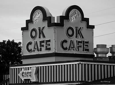 Photograph - Ok Cafe Neon B W Atlanta Classic Landmark Restaurant Art by Reid Callaway