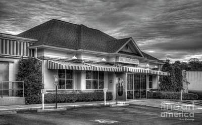 Photograph - Ok Cafe Take Out B W Buckhead Restaurant Art by Reid Callaway