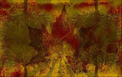 Nature Abstract Digital Art - Ok Fall by Shawn Ross