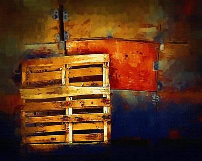 Okanagan Pallet Art Print by Bill Kellett