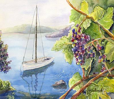 Grapevines Painting - Okanagan Pleasures by Malanda Warner