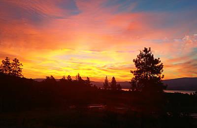 Digital Art - Okanagan Sunrise At Kelowna by Max DeBeeson