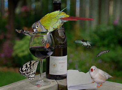 Garden Party Photograph - Okay...admittedly...the Party Got A Little Out Of Hand  by Robin Webster