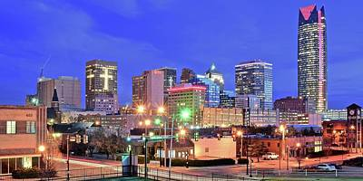 Photograph - Okc Blue Evening by Frozen in Time Fine Art Photography