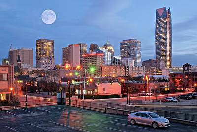 Photograph - Okc Full Moon by Frozen in Time Fine Art Photography