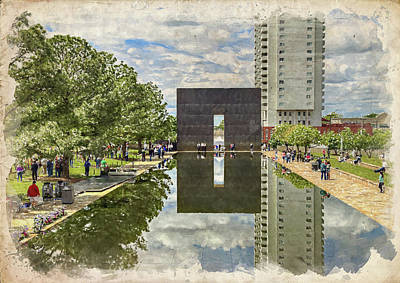 Photograph - Okc Memorial Watercolor II by Ricky Barnard