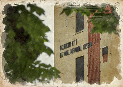Photograph - Okc Memorial Watercolor Iv by Ricky Barnard