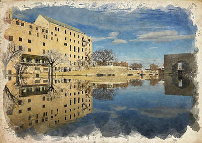 Photograph - Okc Memorial Watercolor Ix by Ricky Barnard