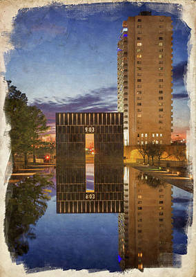 Photograph - Okc Memorial Watercolor by Ricky Barnard