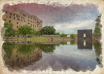 Photograph - Okc Memorial Watercolor V by Ricky Barnard