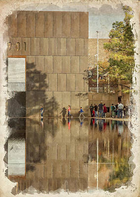 Photograph - Okc Memorial Watercolor Vi by Ricky Barnard