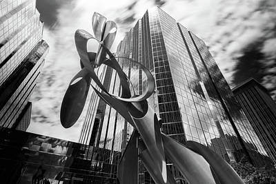 Photograph - Okc Sculpture by Nathan Hillis