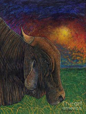 Painting - Okeechobee Brahman by David Joyner