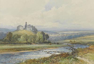 Okehampton Castle Art Print by Frederick John Widgery