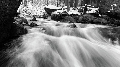 Photograph - Oker, Harz In Black And White by Andreas Levi