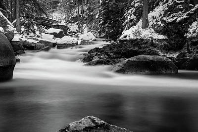 Photograph - Oker, Harz - Monochrome Version by Andreas Levi