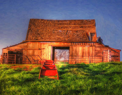 Digital Art - Oklahoma Barn by DS Dodd