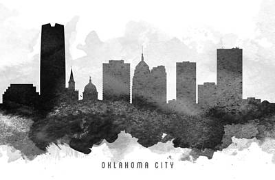 Oklahoma City Cityscape 11 Art Print by Aged Pixel